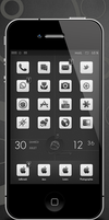 Partage Black and White Widget by charlojb