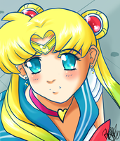 sailor moon redraw by Fawks666