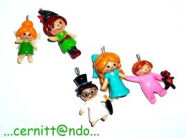 Polymer Clay Peter Pan pendant by cernittando