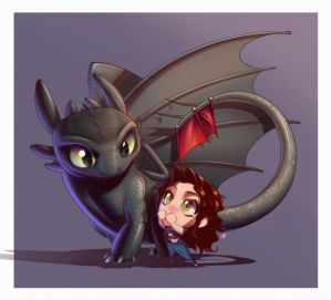 Toothless and Marahia by leocirius