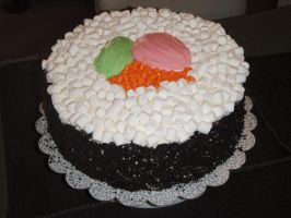 Sushi Cake by megalbagel