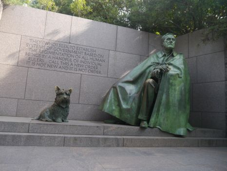 A President and His Dog by Party9999999