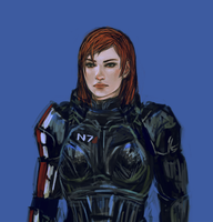 FemShep Closeup by minijuuku