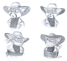 A bunch of doodles of Bamboo-Lee by Levvvar