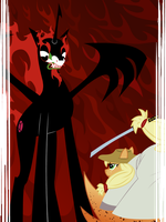 Pony Aku vs Samurai Applejack by LordBojangles