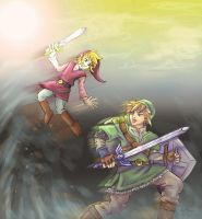 Art Trade SS Link VS Vio by Rinkuchan27