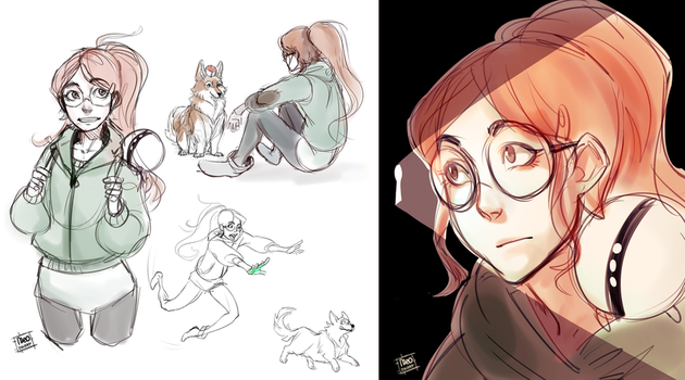infinity train sketches by meodwarf