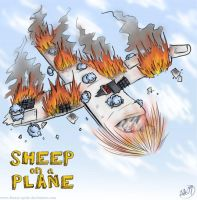 SHEEP on a Plane by Forest-Sprite