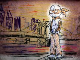 Brooklyn Bridge doodle by mcazevedo