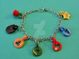 Sailor Moon Charm Bracelet by silverbeam