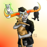 Tavros and Cats by a-manders