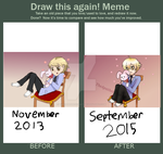 Draw This Again Meme- The Cutest Senpai by TheApatheticKat