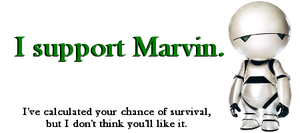 I Support Marvin by Sparxz86