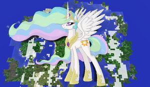 Princess Celestia Minecraft by TheUnknown644