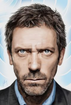 Dr House - Hugh Laurie by JD3366