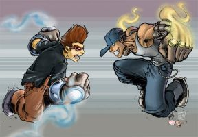 Kid gloves vs Knux collabo by kwinz