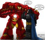 Ironman  and  Batman by Misterho