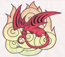 Gift: Red Dragon by AlyssasART