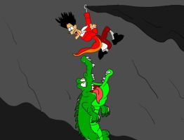Captain Hook and Tick Tock the Croc by SammyD91