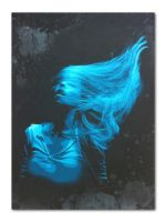 'Inertia Creeps' - Electric Blue edition by snikstencilstuff