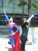 Superma'am and Green Lantern by miss-kitty-j