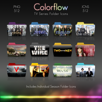 Colorflow TV Folder Icons 5 by Crazyfool16