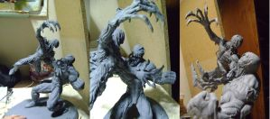 Venom and Carnage Sculpture unpainted by b1938dc