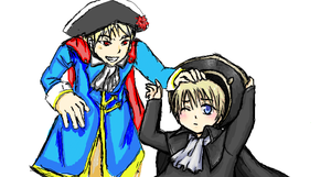 APH: Gilbert and HRE by moonlight-fox