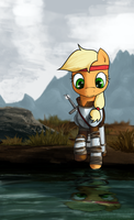 Applejack Warrior by MAKC-HUNTER