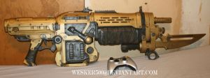 My GoW3 Retro Lancer Replica by Wesker500