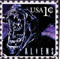 Alien Stamp by Pochifux