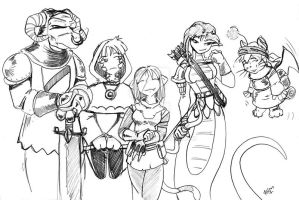 Commission Adventure Group by madpuffins