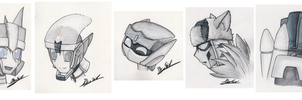 Water color pencils - Headshots by Sidian07
