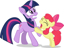 Apple Bloom begging Twilight Vector by scrimpeh