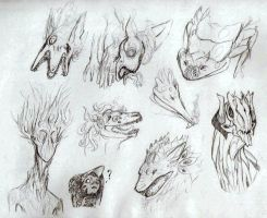 Creature Doodles by AntiquedBones