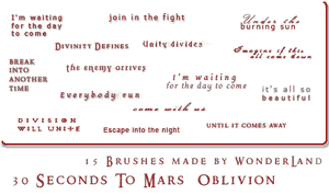 30 Seconds To Mars - Oblivion by Foxxie-Chan