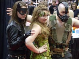 Catwoman, Ivy and Bane @ C2E2 2012 by MonkeySquadOne