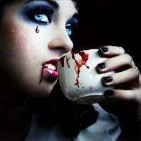How about a nice cup of blood? by Silaynne