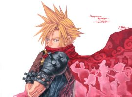 Kingdom Hearts Cloud And The Coliseum by Nick-Ian