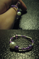 Crafted Purple Beaded Ring 2 by sampdesigns