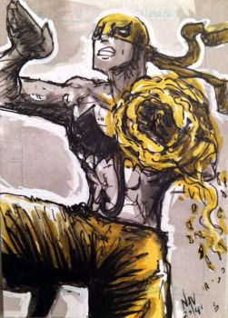 Iron Fist Sketch card by FWACATA