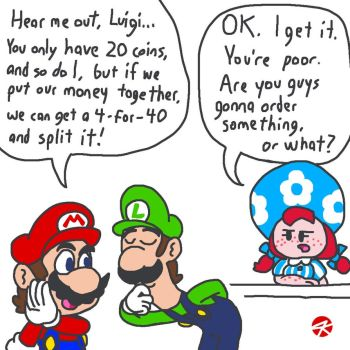If Wendy's existed in the Mushroom Kingdom by JK-Kino