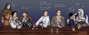 AC boys at the bar by coloristjen