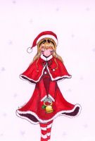 Christmas Bell Girl by fantasy-flower