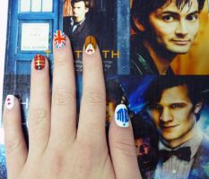 Doctor Who nail art by whosherlokid