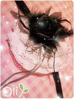 Gothic Lolita Rose Headdress by lemontreecrafts