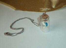 Navi Fairy In Bottle Necklace Zelda Custom OOAK by TorresDesigns