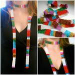 Beaded 4th Doctor Scarf by QuantumPhysica