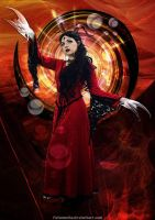 Dragon Lady In Red by Fotomonta