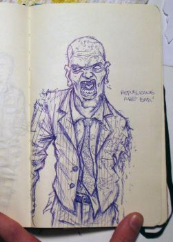 sketch bk. right-wing zombie by Trashe-Trav